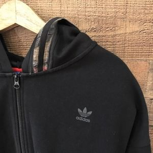 adidas Tops - Adidas Black Hoodie Small Zip Front